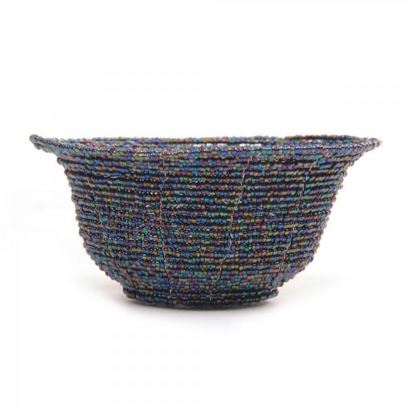 Glasperlenschale, multicolor, Ø 13 cm, H 6 cm