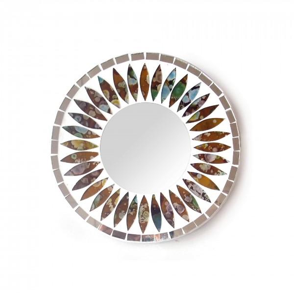 "Glasmosaikspiegel ""Regenbogen"", Ø 20 cm"