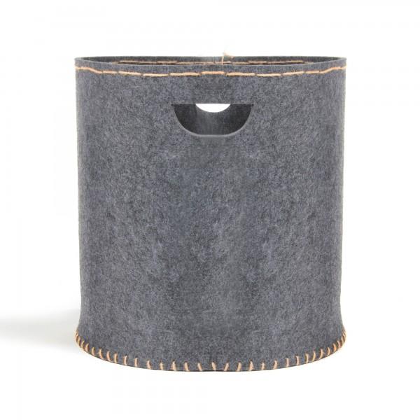 Wäschekorb, aus Filz, Ø 46 cm, H 50 cm