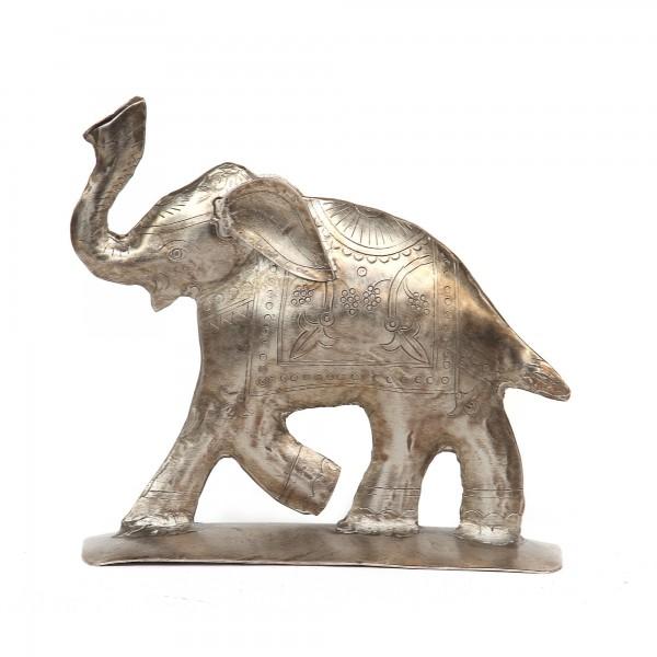 Elefant antik, T 17 cm, B 5 cm, H 16 cm