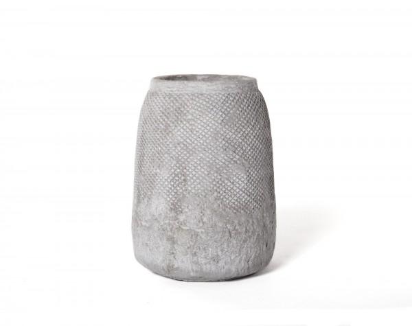 Übertopf 'Baelen', aus Zement, grau, Ø 14,5 cm, H 19,5 cm
