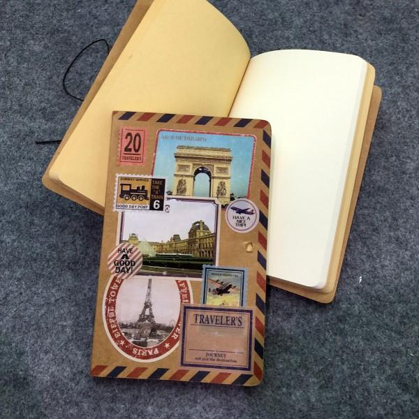 """Notizbuch """"French Stamps"""", 128 Seiten, B 12 cm, H 18 cm"""
