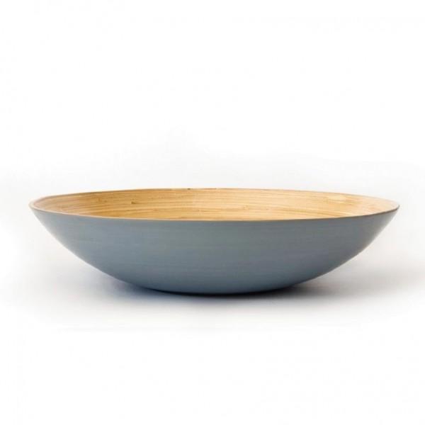 Bambusschale, hellblau/natur, H 9 cm, Ø 40 cm