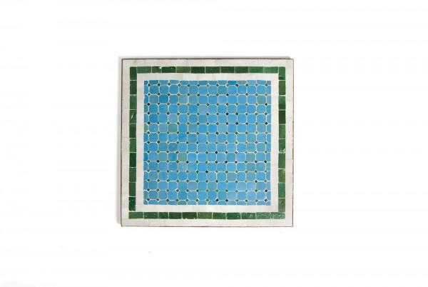 Mosaiktisch, blau, grün, L 60 cm, B 60 cm, H 73 cm