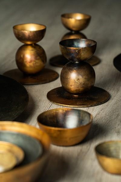 Kerzenständer 'Katun', Ø 10 cm, H 9 cm