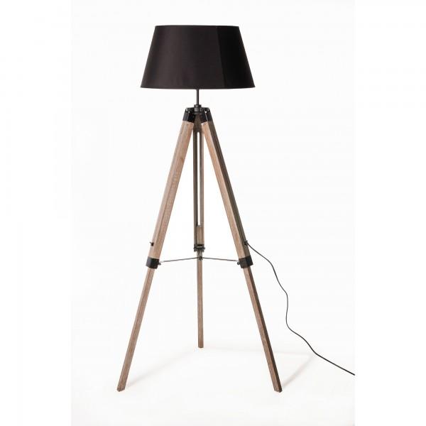 """Stehlampe """"Stanton"""", braun/geweißt, H 145 cm, B 65 cm"""