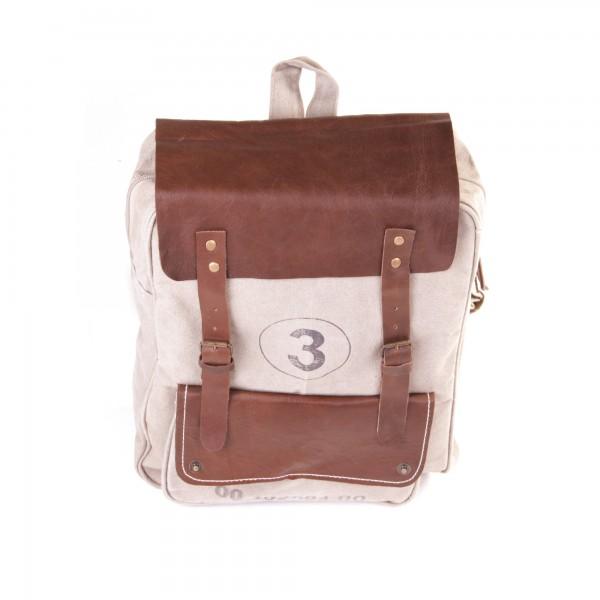 """Rucksack """"Three"""", beige/braun, B 33 cm, H 42 cm"""