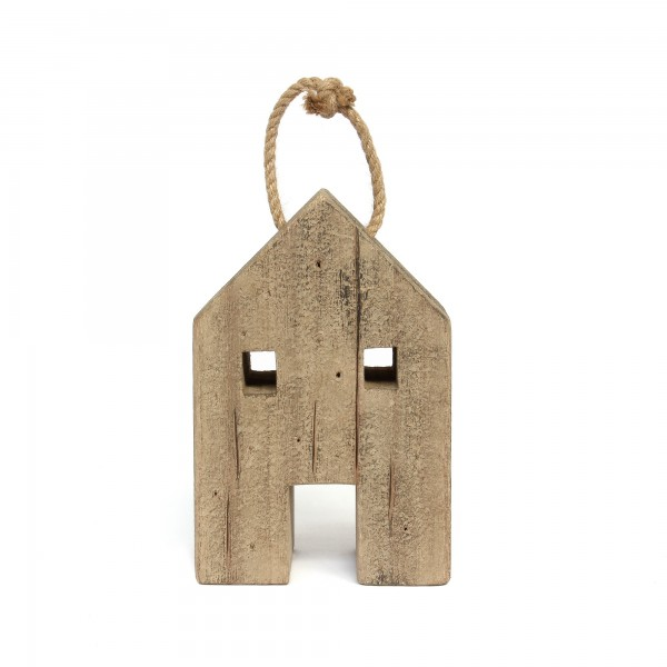 Haus hängend, natur, T 10 cm, B 16 cm, H 24 cm