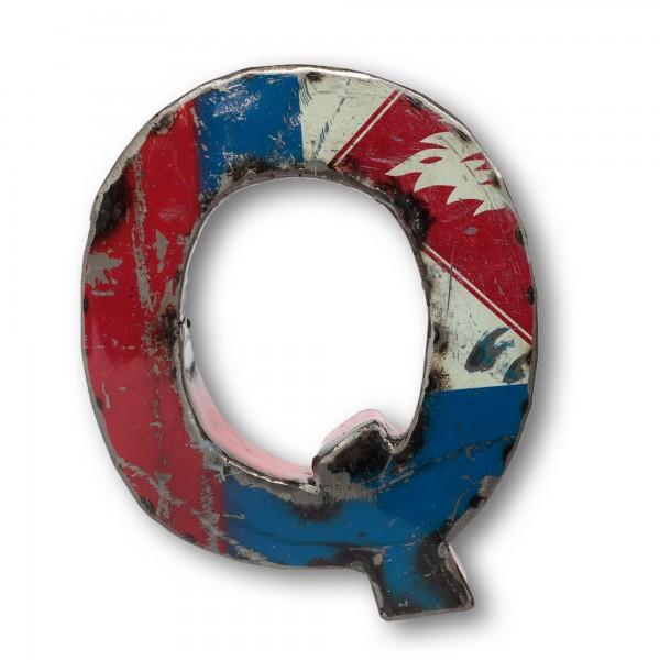 Metallbuchstabe 'Q', multicolor, T 18 cm, B 20 cm, H 4 cm