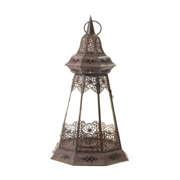 Laterne 'Manar Taha', klar, L 40 cm, B 40 cm, H 75 cm