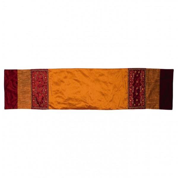 Tischläufer, rot/orange, L 150 cm, B 35 cm