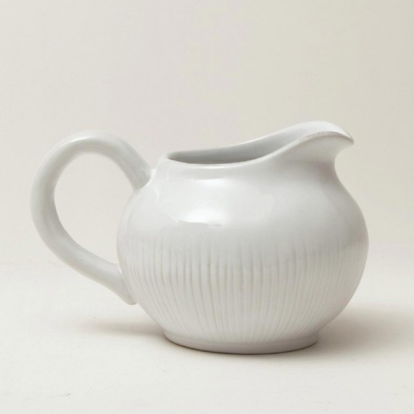 "Milchkanne ""Organic"", weiß, H 8 cm, Ø 9 cm"