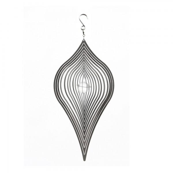 Windspiel 'Tropfen', silber, T 4 cm, B 15 cm, H 30 cm
