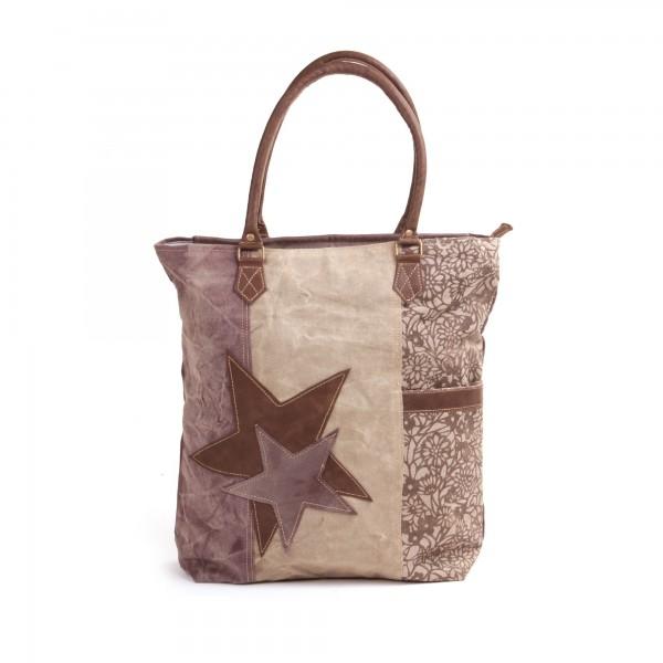 """Tasche """"Two Stars"""", beige/braun, B 42 cm, H 42 cm"""