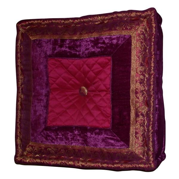 Sitzkissen, lila, L 40 cm, B 40 cm, H 10 cm