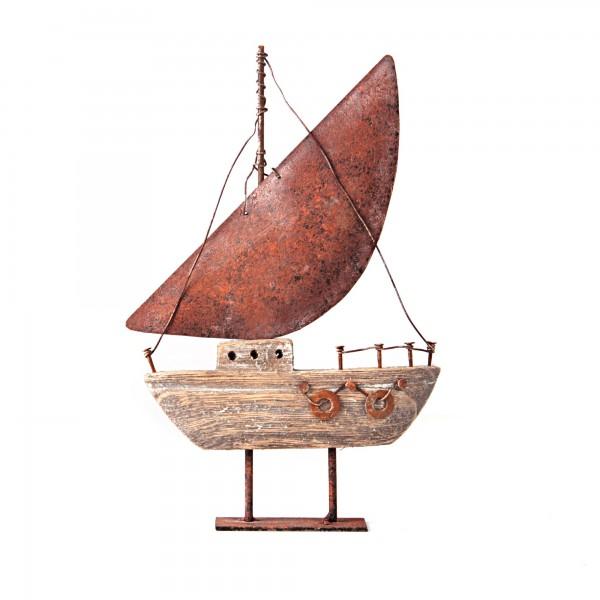 Segelboot, mit Standfuß, L 3 cm, B 14 cm, H 23 cm