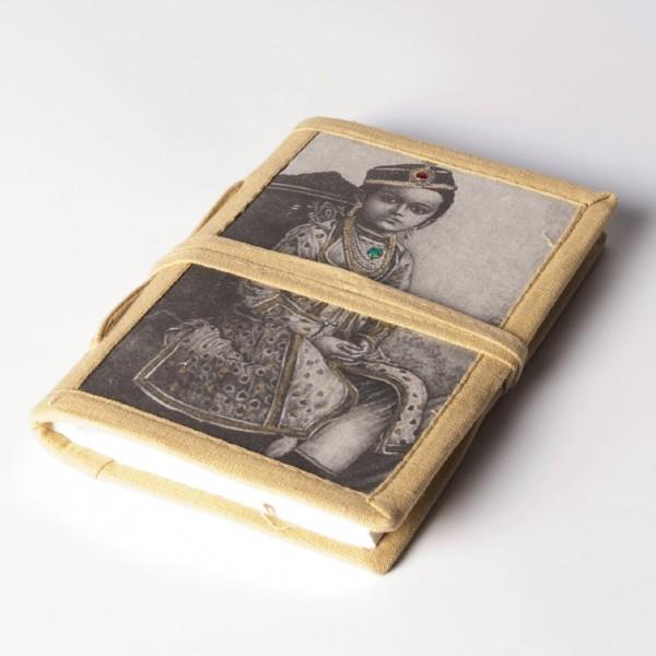"Notizbuch ""Naukarani"", beige, B 10 cm, H 15 cm"