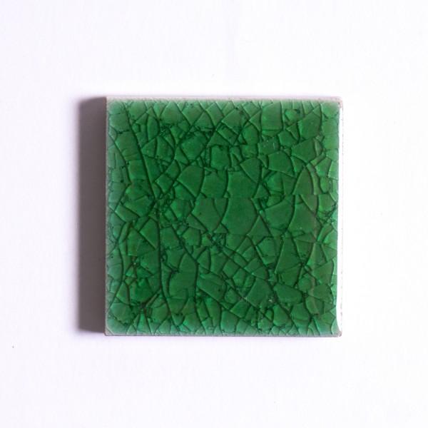 Fliese 'Craquele', grün, L 5 cm, B 5 cm