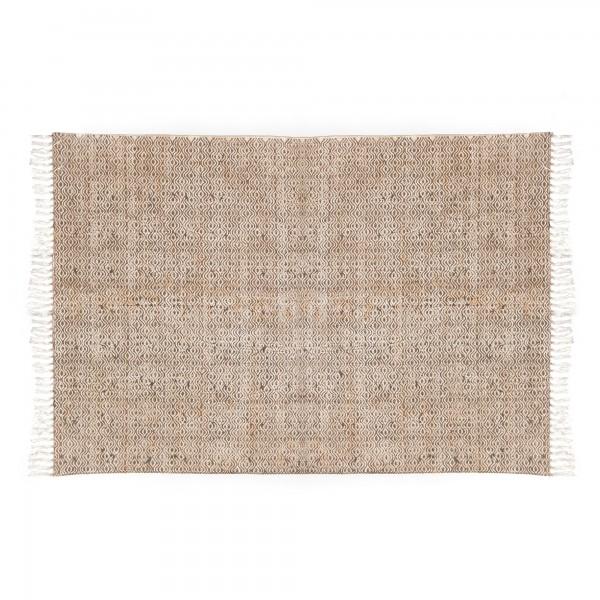 Teppich 'Lahar', weiß, braun, T 140 cm, B 200 cm