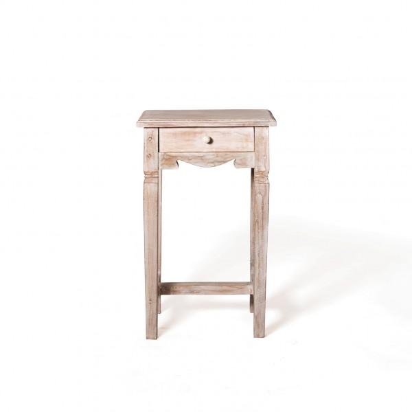 "Telefontisch ""Eleni"", weiß, T 35 cm, B 45 cm, H 75 cm"