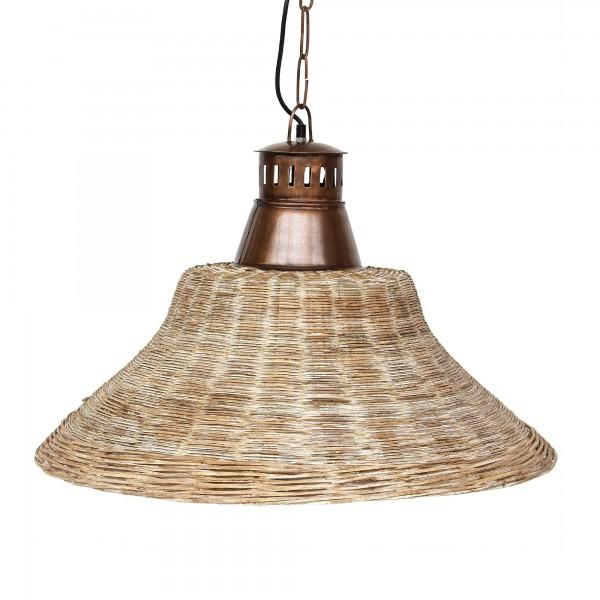 Lampe 'Bambus', weiß, Ø 66 cm, H 44 cm
