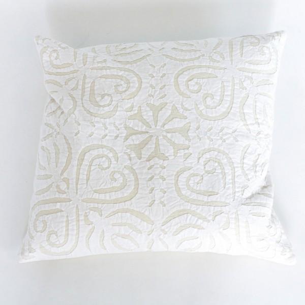 Kissenhülle 'Raja', weiß/beige, L 40 cm, B 40 cm