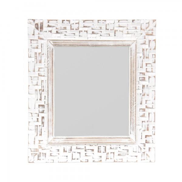 Spiegel 'Windows', weiß gekälkt, T 3 cm, B 33 cm, H 38 cm