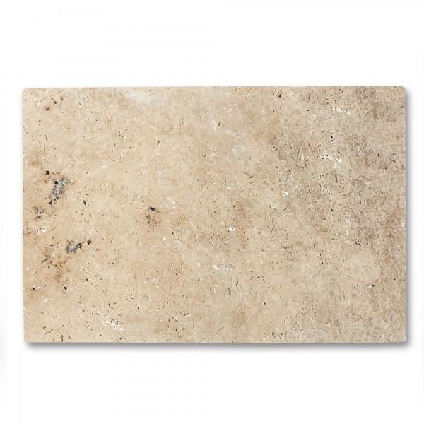 Travertin Steinplatte antik, natur, T 60 cm, B 40 cm, H 1 cm
