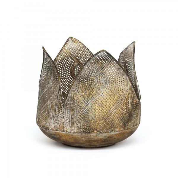Windlicht 'Yuna', bronze, Ø 15,5 cm, H 16,5 cm