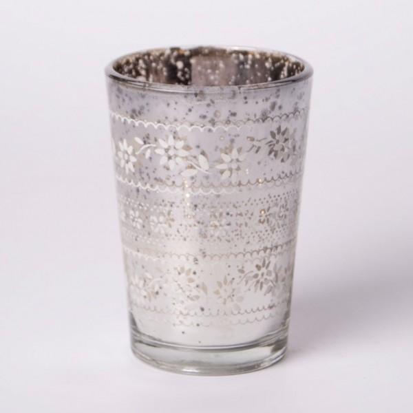 """Teelichtglas """"Votive"""", silber"""
