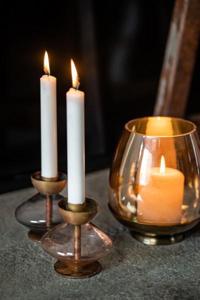 Kerzenständer 'Ussuri', gold, Ø 11 cm, H 10 cm