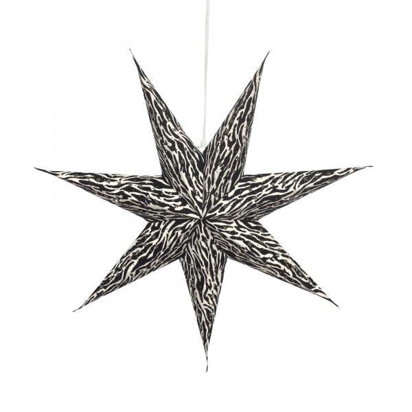 Papierlampe 'Pashu', schwarz, weiß, Ø 62 cm, H 13 cm