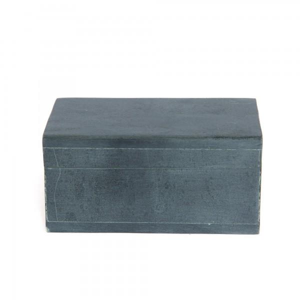 Box grauer Speckstein, grau, T 10 cm, B 8 cm, H 5 cm