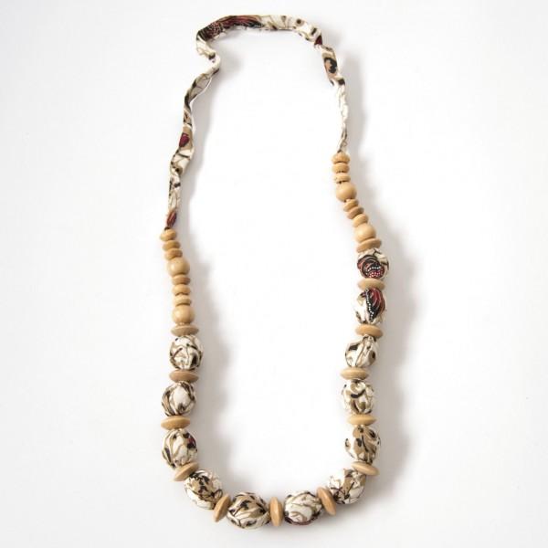 """Halskette """"Batik Sarong"""", weiß"""