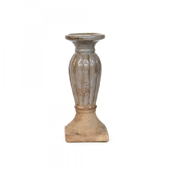Kerzenhalter, natur, Ø 12 cm, H 31 cm