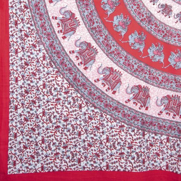 "Multifunktionstuch ""Kochi"", rot/weiß, L 240 cm, B 220 cm"