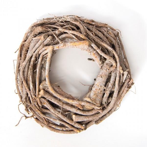 Dekokranz 'Vogelnest', braun, H 8 cm, Ø 30 cm