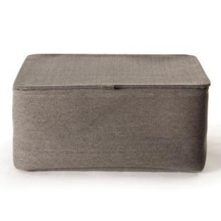 Aufbewahrungskorb mit Deckel mittel, grau, L 20 cm, B 29 cm, H 15 cm
