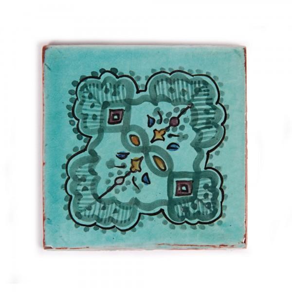 Fliese 'Dessin Turquoise', L 10 cm, B 10 cm, H 1 cm