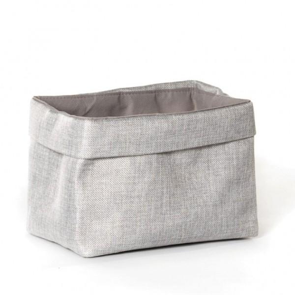 Korb 'Picardie', grau, L 14 cm, B 20 cm, H 14 cm