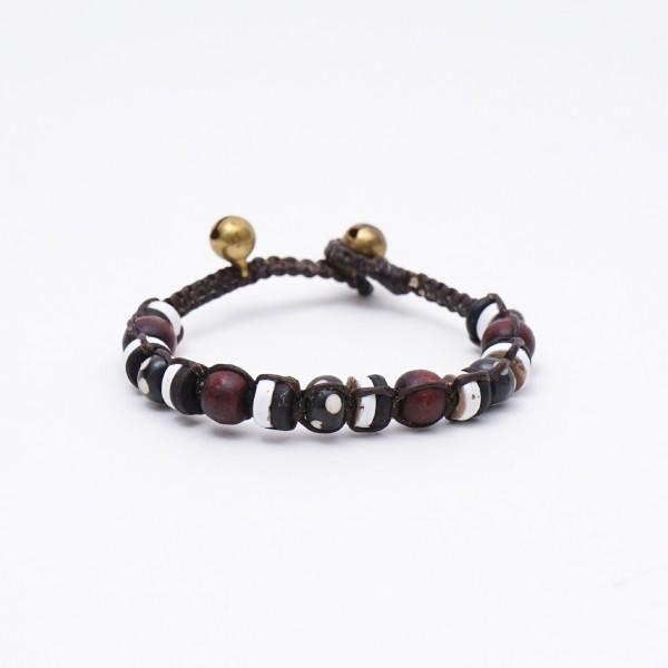 Armband 'Jodie', handgefertigt, schwarz, braun