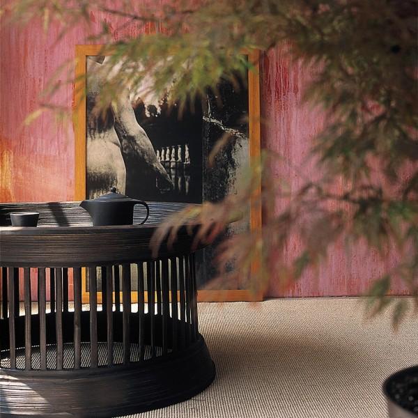 Opferschalentisch mit Glasplatte, schwarz, H 44 cm, Ø 98 cm