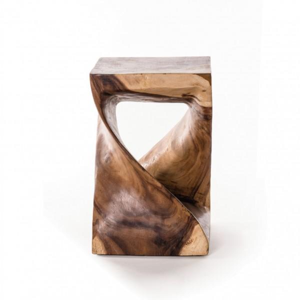 Vollholzsockel 'Twist', natur, H 47 cm