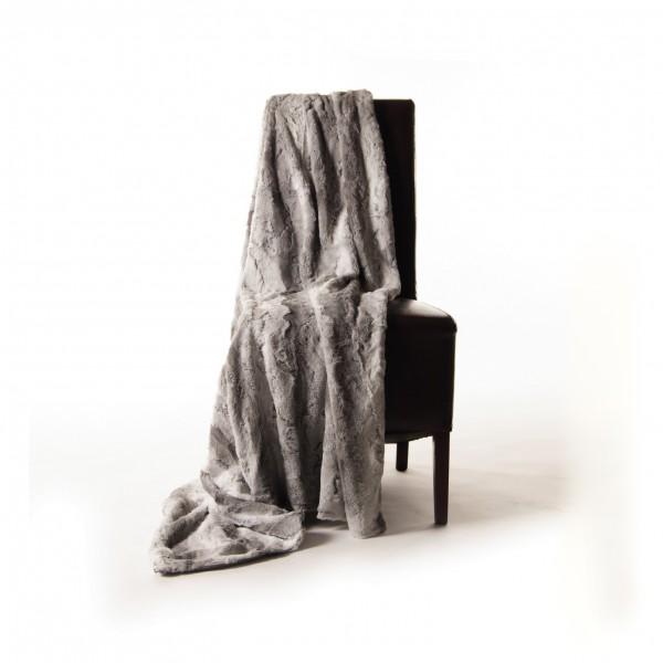 """Decke """"Spalte"""", weiß/grau, L 200 cm, B 150 cm"""