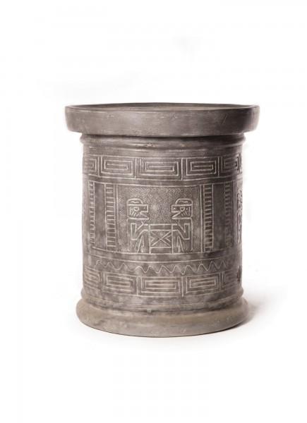 Beistelltisch aus Terracotta, grau, Ø 54 cm, H 59 cm