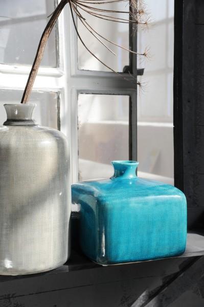 """Vase """"Aquila"""", blau, L 20 cm, B 20 cm, H 18 cm"""