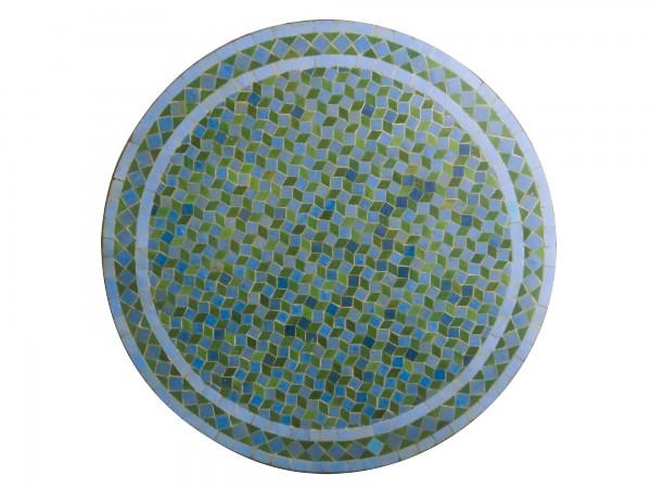 Mosaiktisch rund, türkis, Ø 80 cm