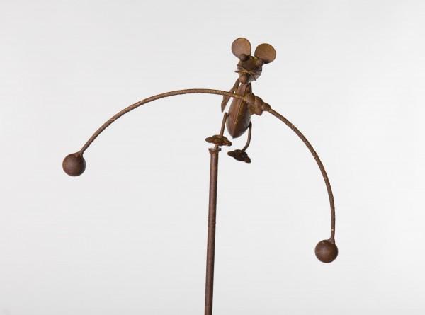 "Wippe ""Maus"", rostbraun, B 25 cm, H 110 cm"