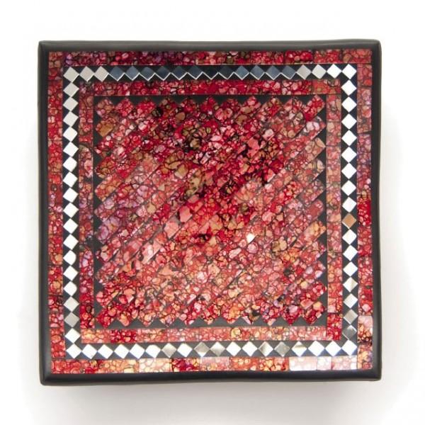"""Glasmosaikschüssel """"Rose"""", rot, L 20 cm, B 20 cm"""