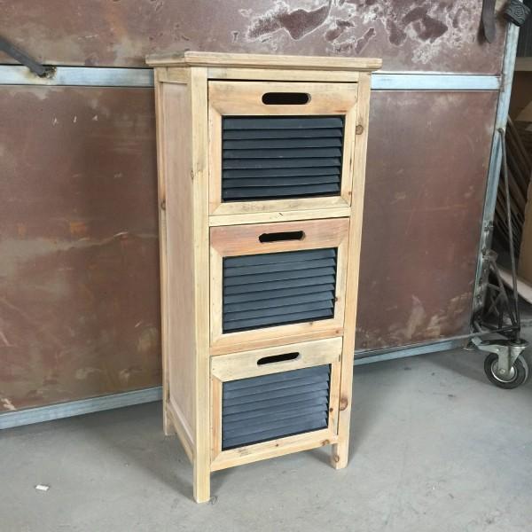 """Schrank """"Wash-Board"""", mit 3 Schubladen, braun, T 32 cm, B 40 cm, H 92 cm"""